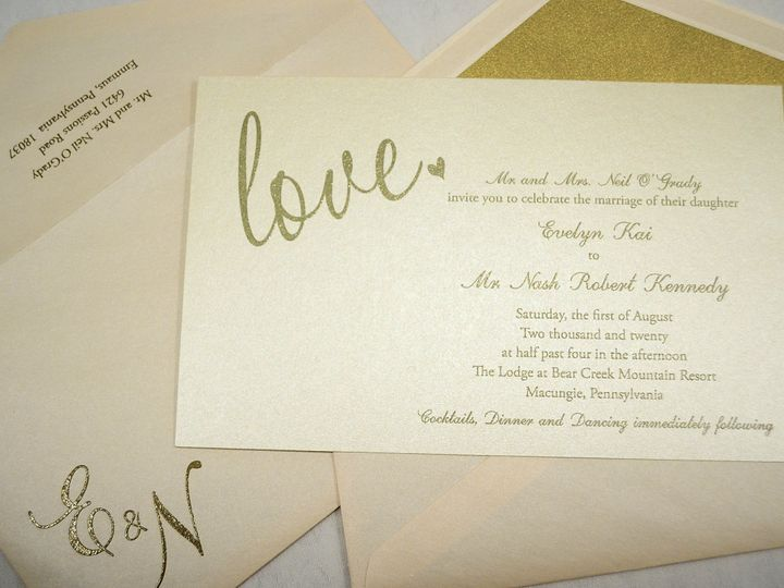 Tmx 1446045606470 Evelyn  Nash   Invitation Quakertown, PA wedding invitation