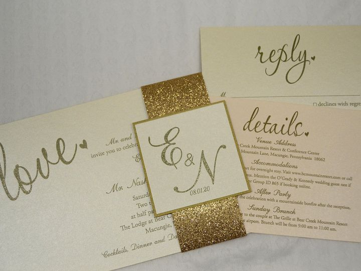 Tmx 1446045621487 Evelyn  Nash   Invite  Cards Quakertown, PA wedding invitation