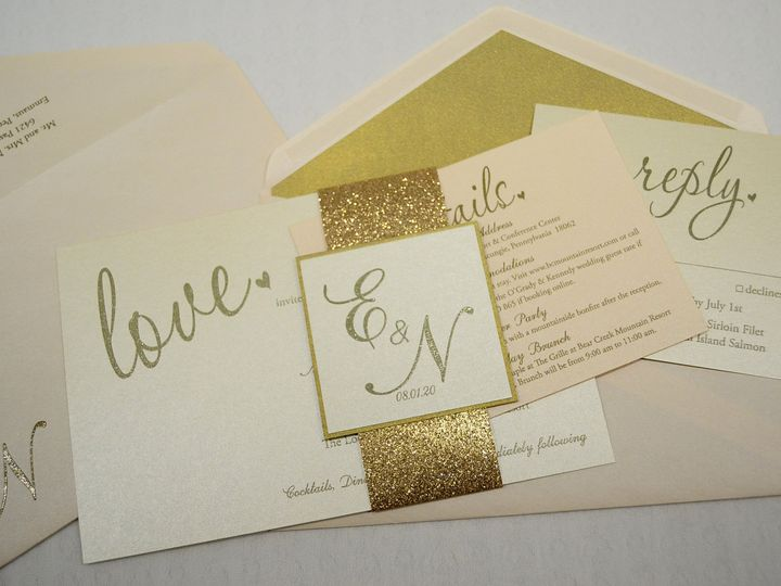 Tmx 1446045666120 Evelyn  Nash   Set Allentown, PA wedding invitation