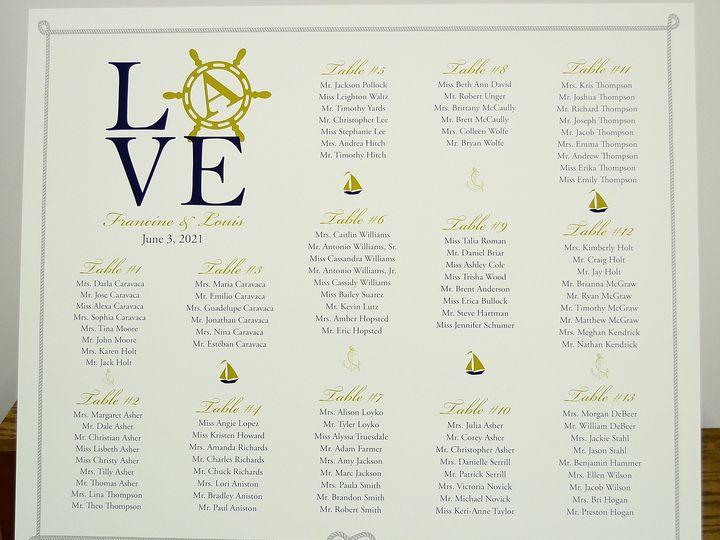 Tmx 1446045679176 Francine  Louis Seating Board Allentown, PA wedding invitation