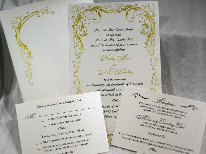 Tmx 1446045703042 Kelly  Neil 3 Quakertown, PA wedding invitation