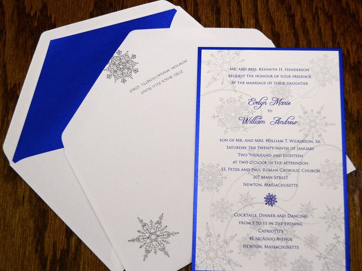 Tmx 1446045760901 Snow Flakes Evelyn  William Ii Quakertown, PA wedding invitation