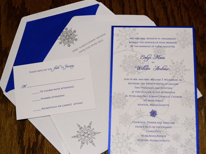 Tmx 1446045782629 Snow Flakes Evelyn  William Quakertown, PA wedding invitation