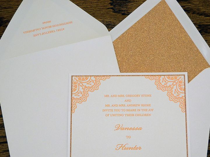 Tmx 1446045829501 Vanessa  Hunter   Invitation Quakertown, PA wedding invitation