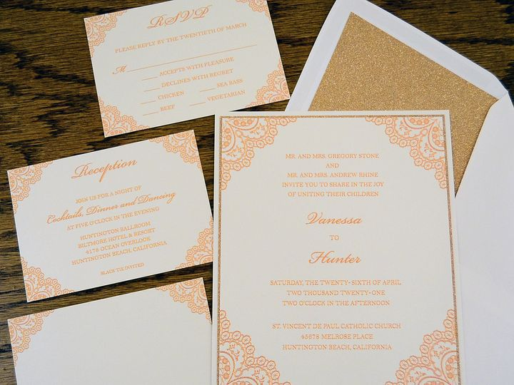 Tmx 1446045842737 Vanessa  Hunter   Set Quakertown, PA wedding invitation