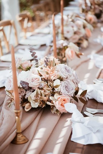 Muted Floral Center Pieces