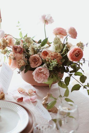 Garden Rose Center Pieces