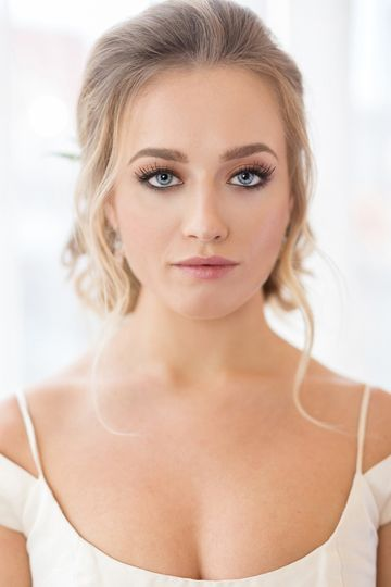 Stunning Bridal Makeup by Savannah Rae Beauty, recently featured on Green Wedding Shoes.