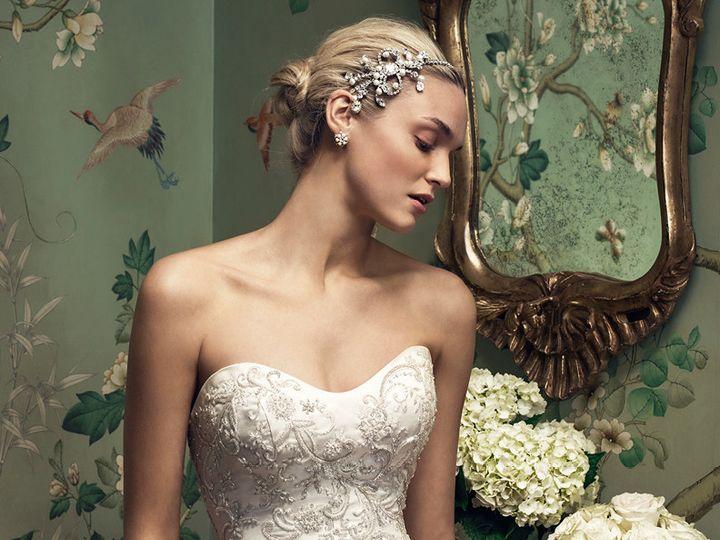 Tmx 1457216653006 Casablanca 2207 Dress Satin Embroidered Strapless  Maple Shade wedding dress