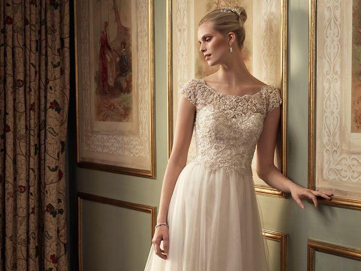 Tmx 1457216661251 Casablanca 2213 Dress Tulle Scoop Neck Cap Sleeve  Maple Shade wedding dress