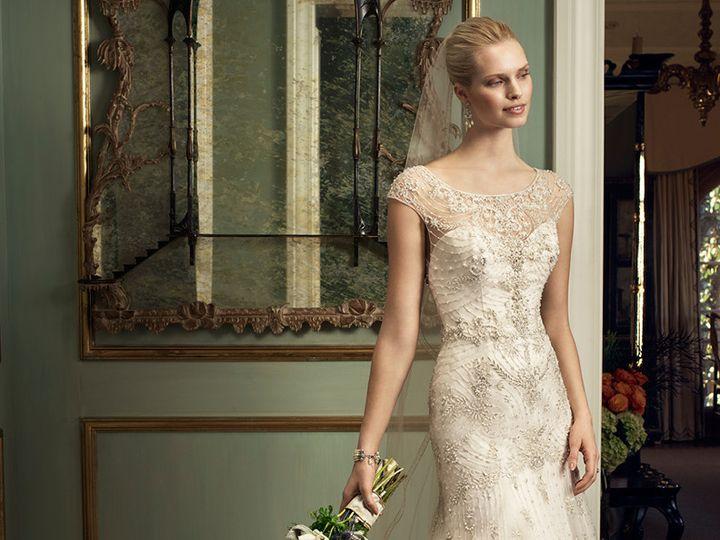 Tmx 1457216667809 Casablanca 2220 Wedding Dress Embroidered Cap Slee Maple Shade wedding dress