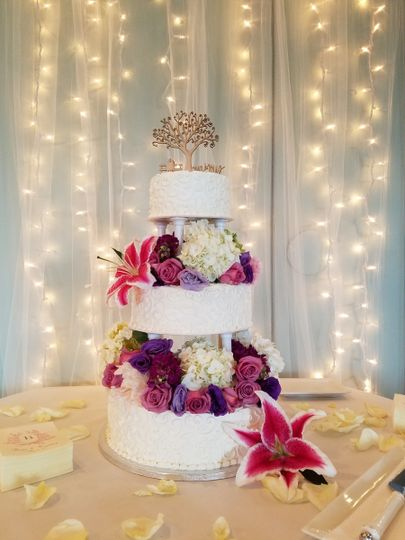 Florist decorated cake