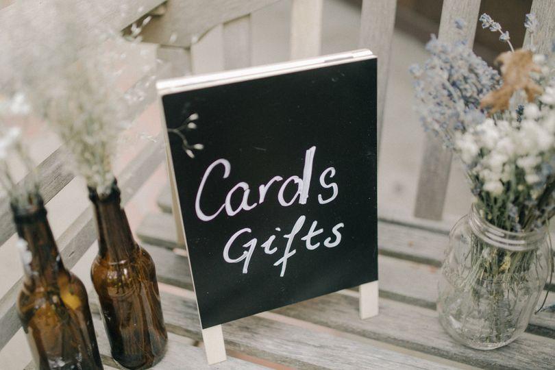 Gift card signage