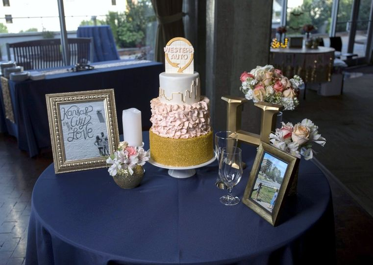 Wedding cake table setup