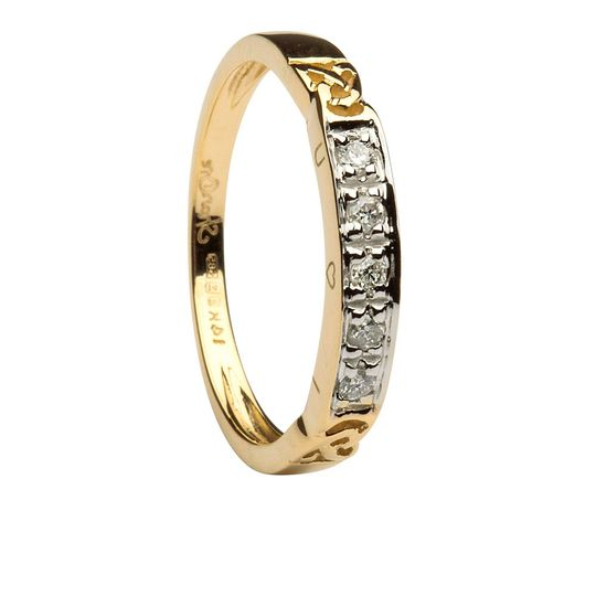 Ring Specification Width: 3mm Weight: 2.1 grams Material: 14K Yellow Gold   Diamond Information...