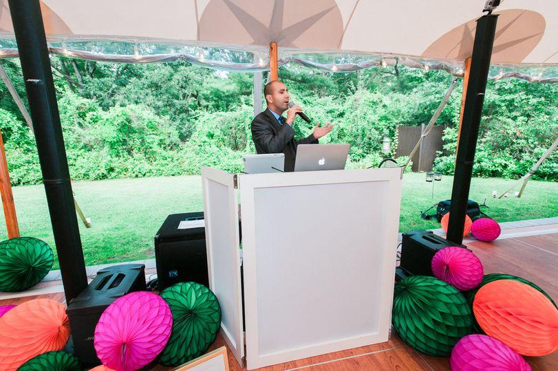 DJ David at a Tent Wedding