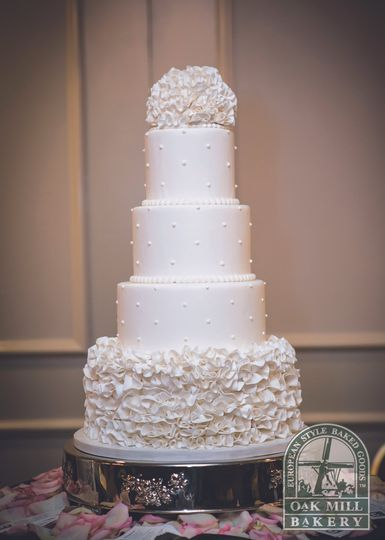Four-tier wedding cake