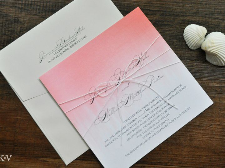 Tmx 1418951642059 Blushombresquareweddinginvitation Sparta wedding invitation