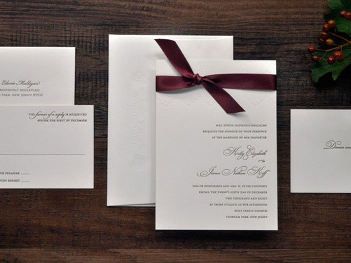 Tmx 1418951680009 Goldandredletterpressweddinginvitations Sparta wedding invitation