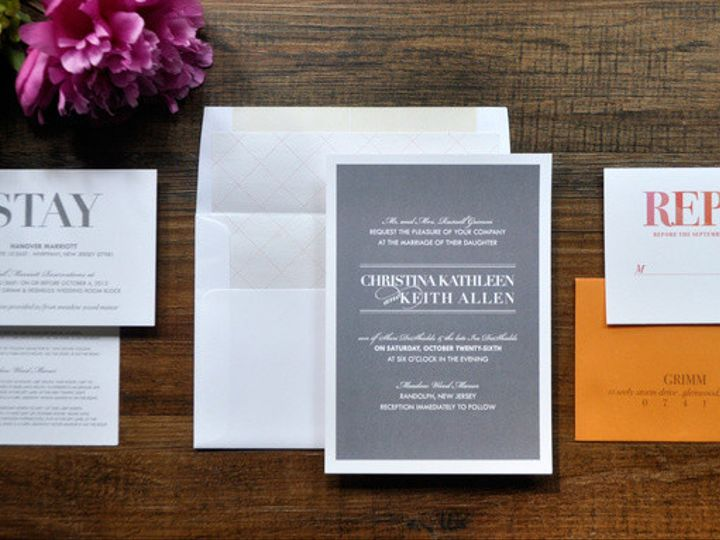 Tmx 1418951722803 Moderngreytypeweddinginvitations 1 Sparta wedding invitation