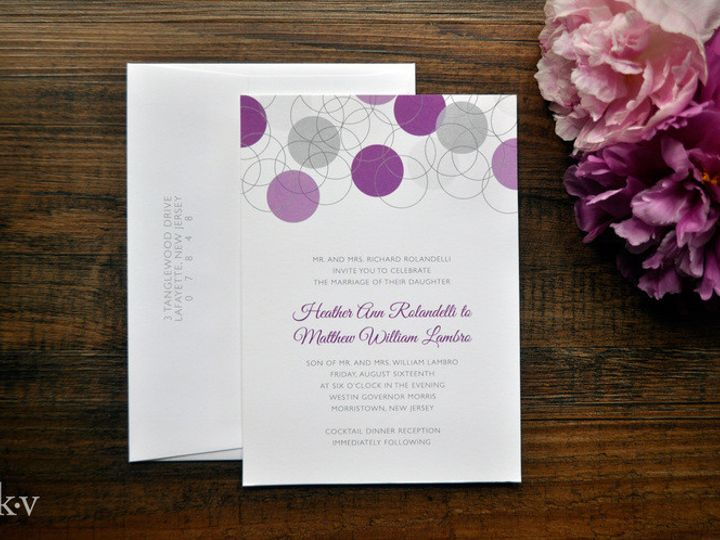 Tmx 1418952163966 Moderngreyandpurplecircleweddinginvitations Sparta wedding invitation