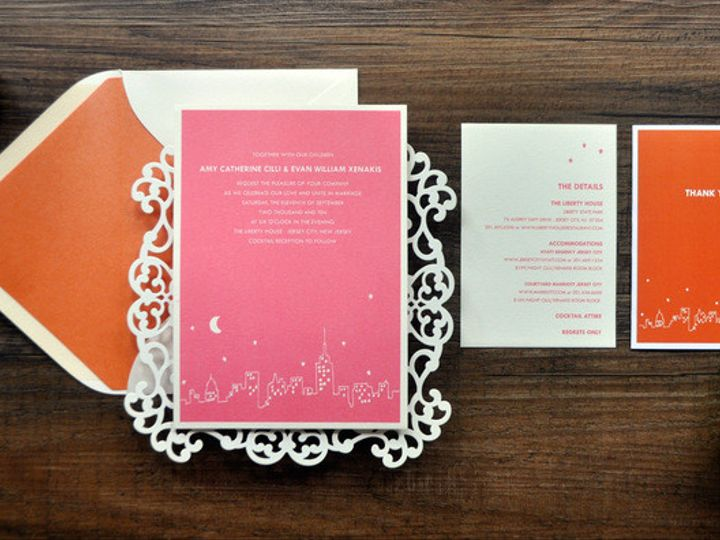 Tmx 1418952168535 Modernnewyorkskylineweddinginvitation 1 Sparta wedding invitation