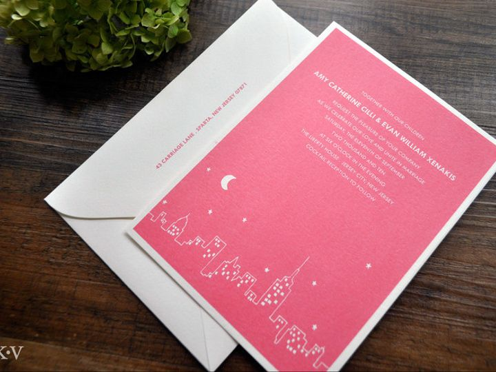 Tmx 1418952173439 Modernnewyorkskylineweddinginvitation Sparta wedding invitation