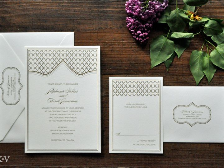 Tmx 1418952177401 Moroccanweddinginvitationswithgoldquatrefoil 1 Sparta wedding invitation