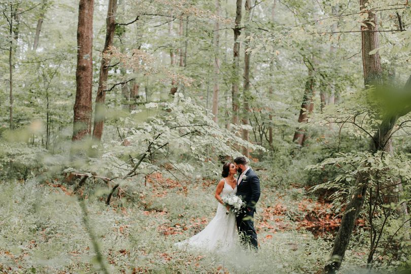 Kissing in the woods