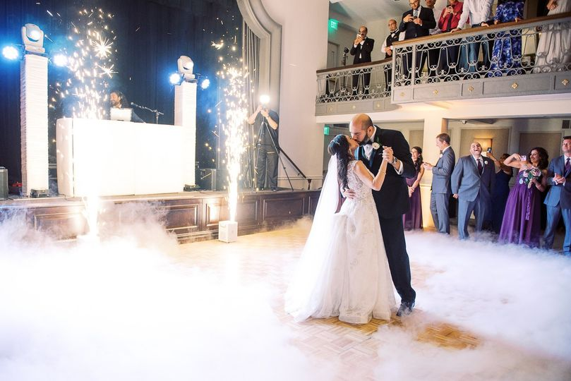Sparklers for a first dance