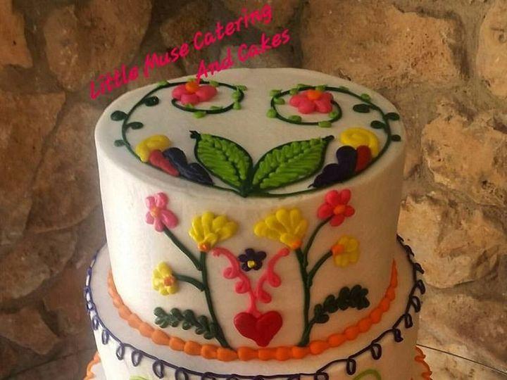 Tmx 1508853436913 Fiesta Inspired Wedding Cake San Antonio, TX wedding cake
