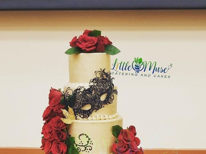 Tmx 5 Tier Gold W Mask 51 766154 158134865371301 San Antonio, TX wedding cake