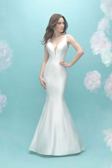 0e99373d572 Allure Bridals 9451 Silk Mikado is a gorgeous backdrop for this intricate  beadwork featured on.