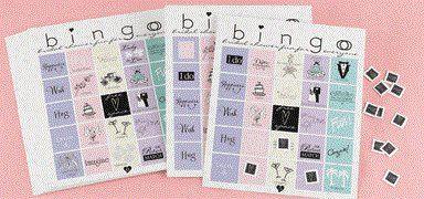 Pastel bingo cards
