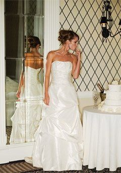 Judd Waddell taffeta bridal gown.