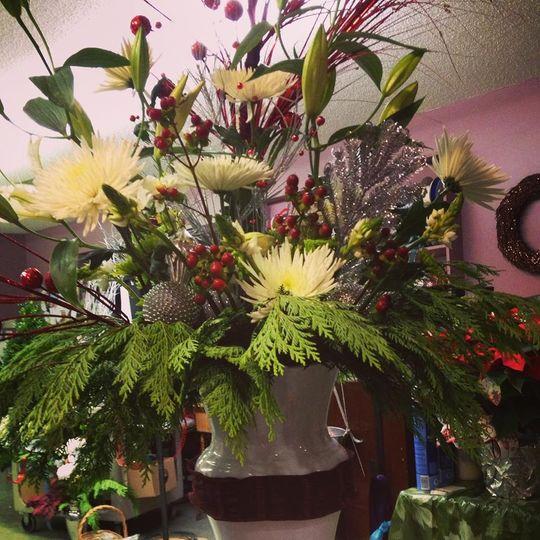 Bursting flower design