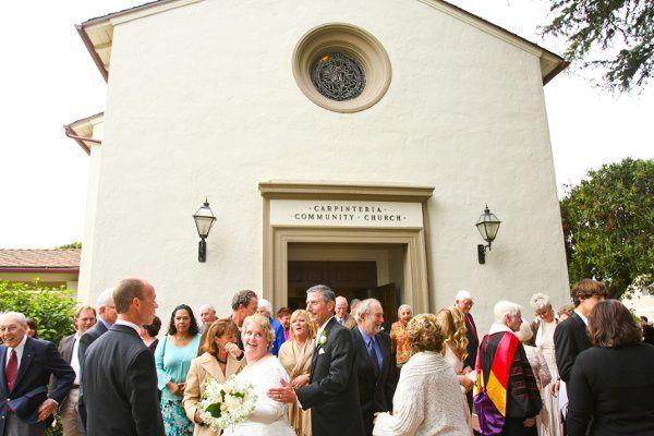 Melinda (Graziani) and Peter Bie, wedding at Carpinteria Community Church
