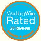 weddingwire rated our 20 reviews badge pic