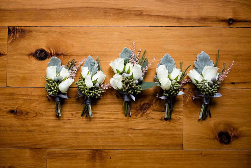 Sample boutonnieres