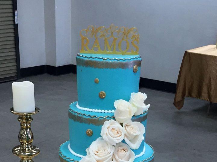 Tmx 1488947500195 Wedding Tiffcolor Whiteroses Nipomo, CA wedding cake