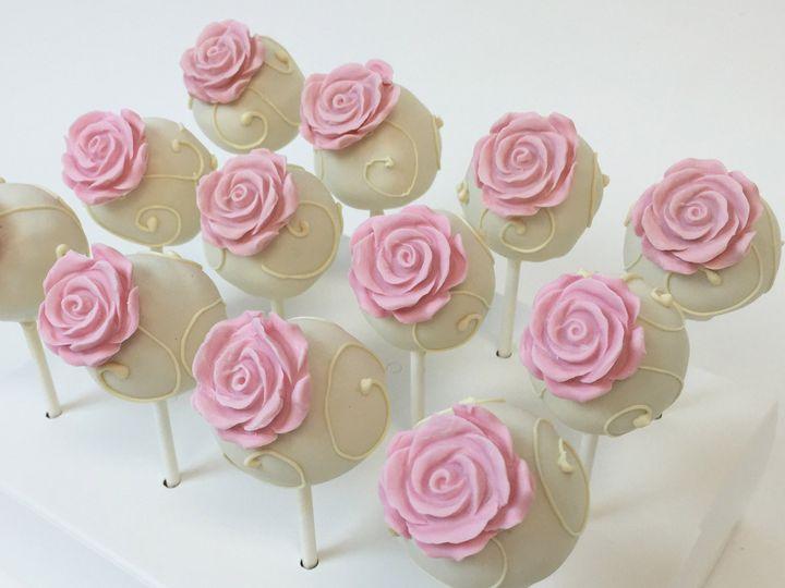Tmx 1488949243981 Cake Pops Rose Pink Ivory1 Nipomo, CA wedding cake