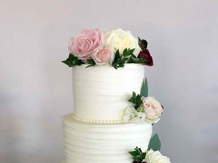 Tmx 1502248365865 Wedding Rustic Brush 3t Red Flowers Web Nipomo, CA wedding cake