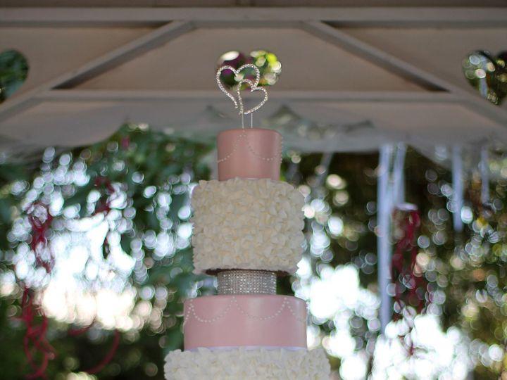 Tmx 1503029329022 Wedding Cake 6tier Pink Ruffles Rhinestones Nipomo, CA wedding cake