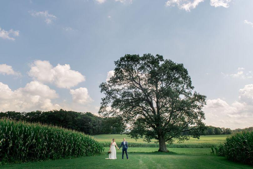 Summer wedding in Western Maryland
