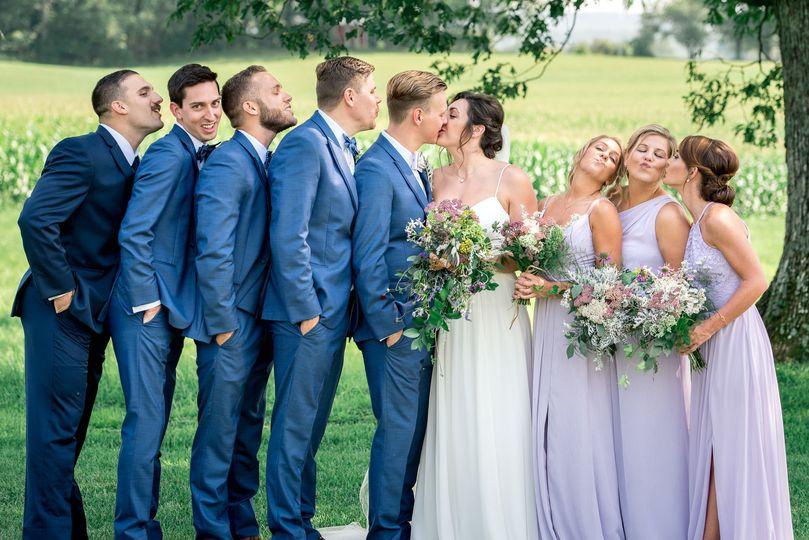 Wedding Party Kisses