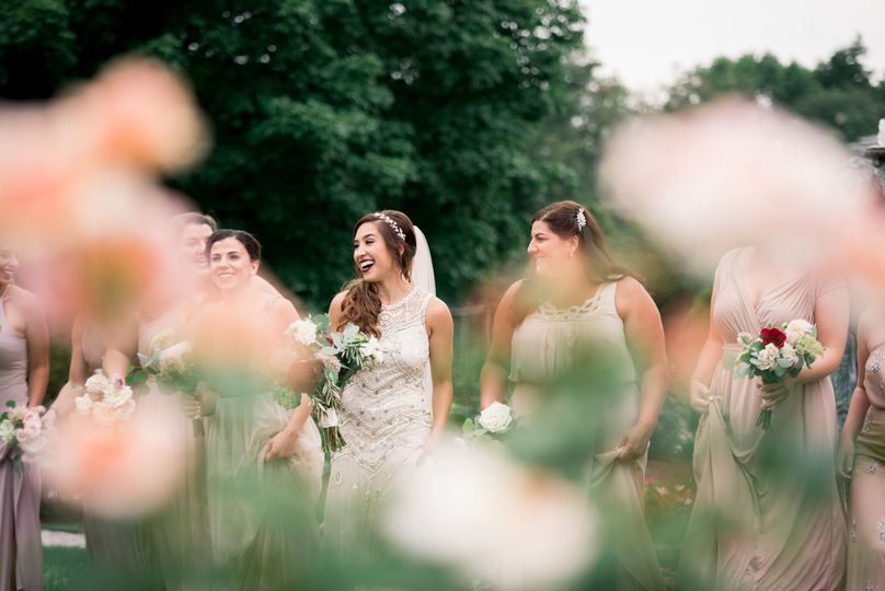 Bridal party portraits at Frederick wedding