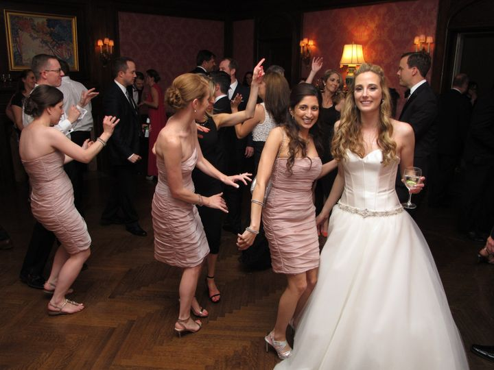 Bridesmaids in the groove.
