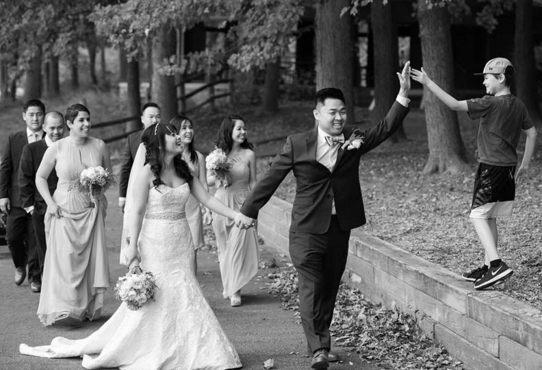 Wedding High Five!