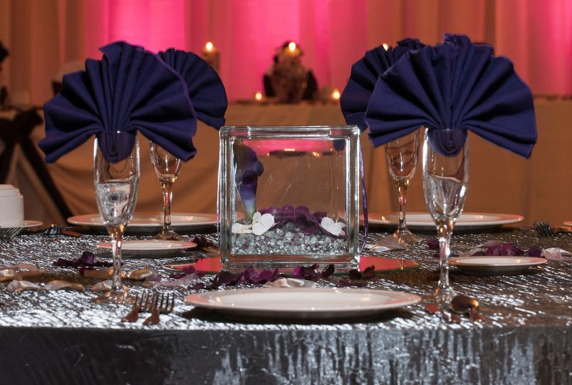 Our even staff will take care of all of the details in setting up your room for your wedding.