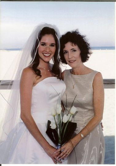 Rev. Cathy Glenn with bride
